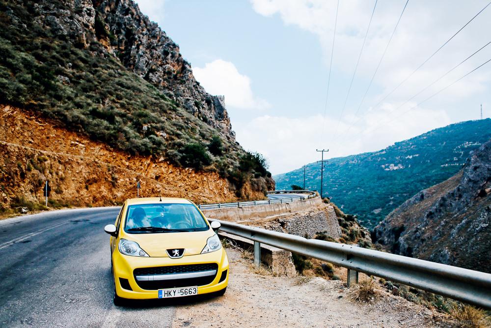 На прокатной машине по Криту