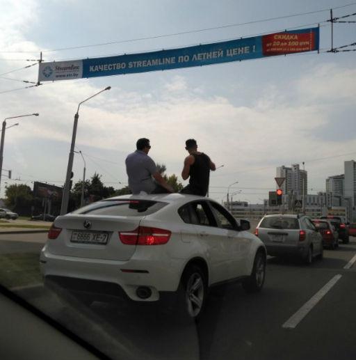 BMW X6 нарушитель
