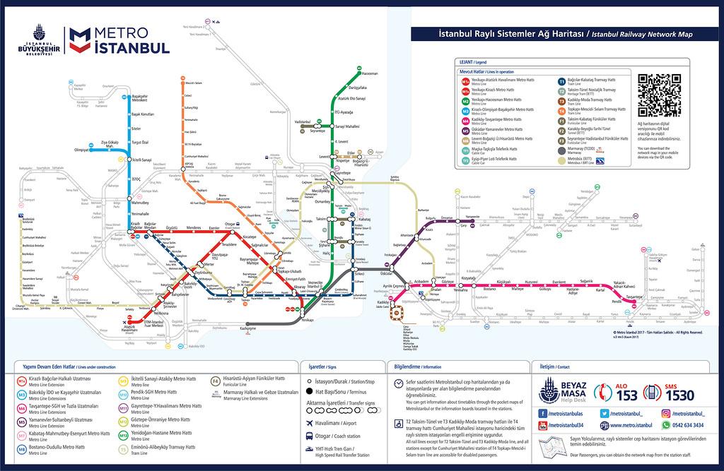 Схема общественного транспорта в Стамбуле