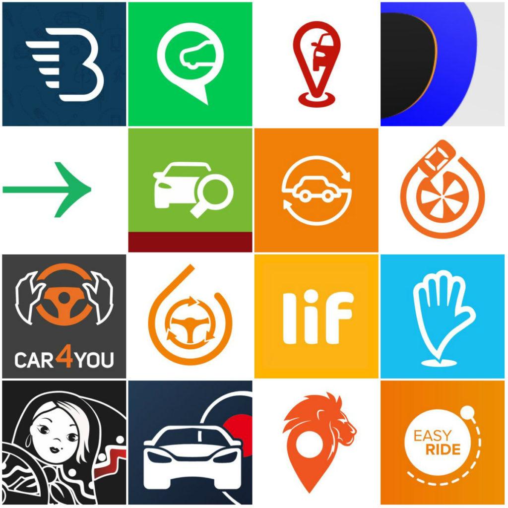 Логотипы каршерингов
