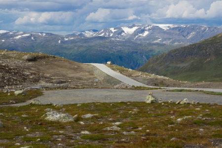 снежная дорога Норвегия